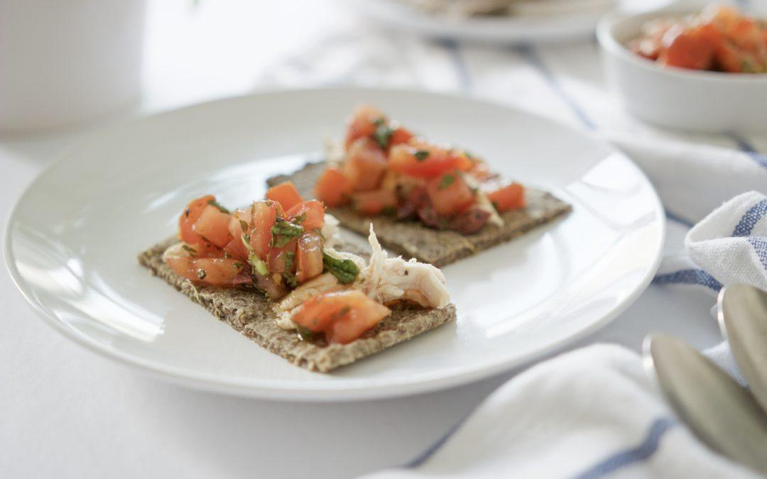 Tomato & Olive Bruschetta