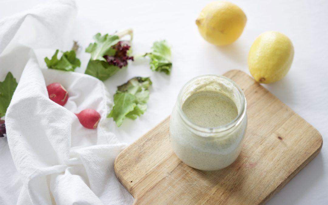 Lemony Herb & Hemp Dressing And Dip (Dairy-Free)