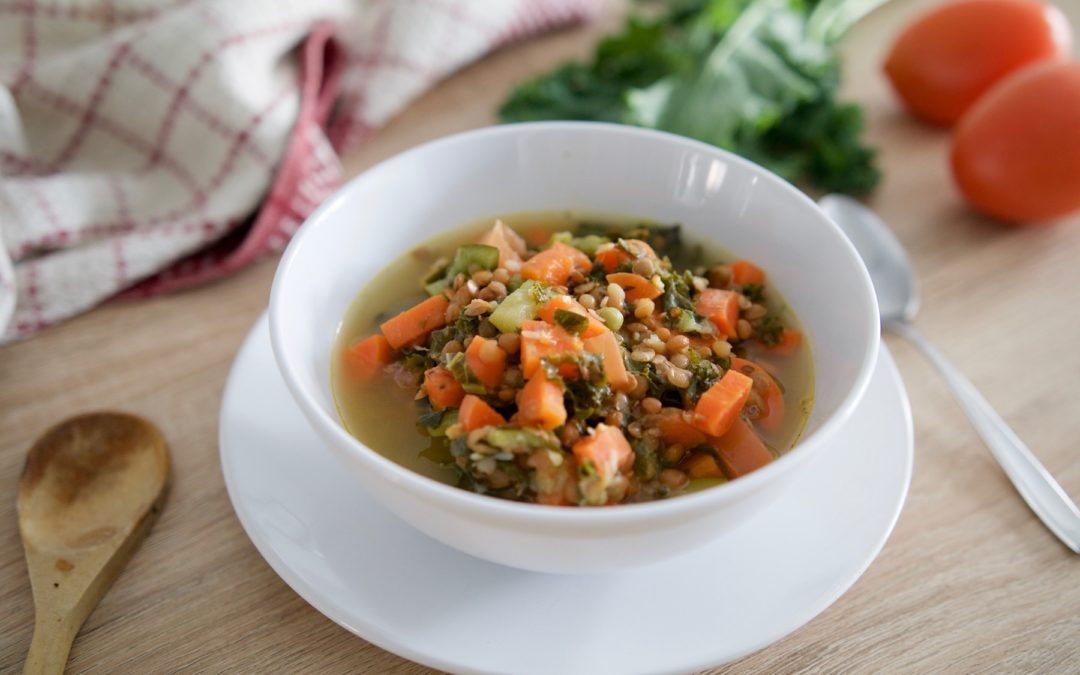 Garden Vegetable & Lentil Soup