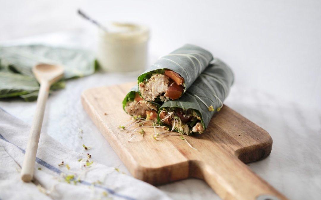 Tuna Salad Collard Green Wraps