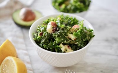 Apple & Kale Salad with Lemon Tahini Dressing