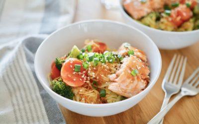 Spaghetti Squash Teriyaki Bowl